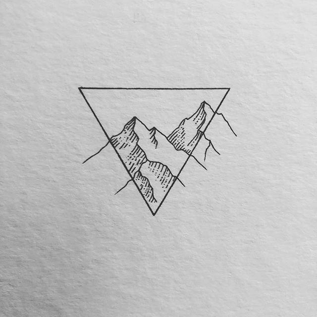 Minimalistischer Berg … was denkst du? Hab eine großartige Woche !! #lostswiss …   – Tattoo ideen