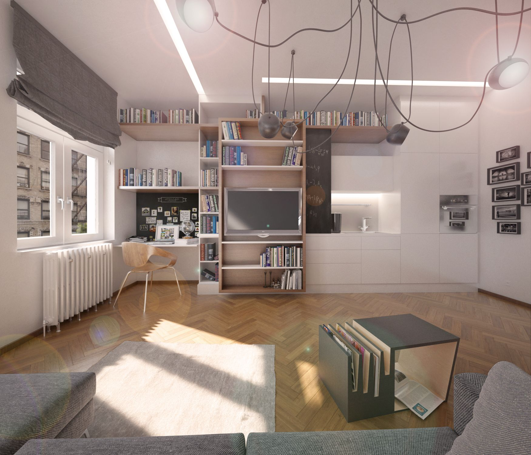 architekt. studie interiéru bytu Praha boq architekti Miroslav Stach Jana Pavelcová