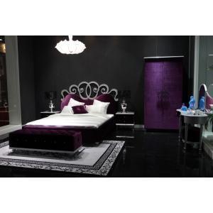 Blossom Purple Luxury Bed Black Bedroom Design Luxury