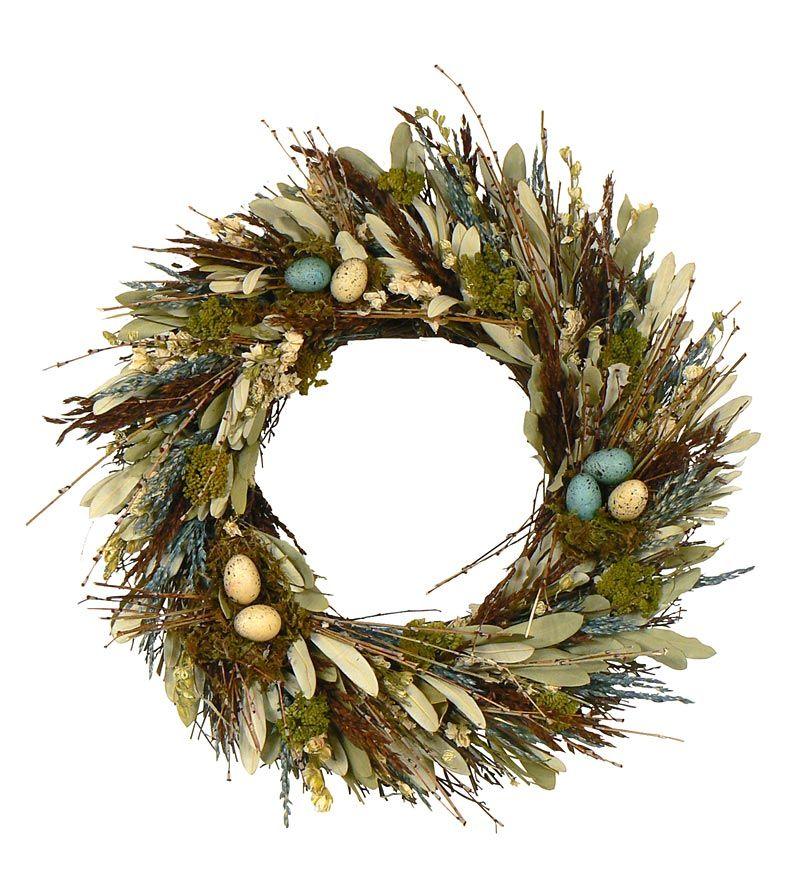 18 26quot Dia Bird 27s Nest Indoor Wreath Indoor Wreath Wreaths Dyed Flowers