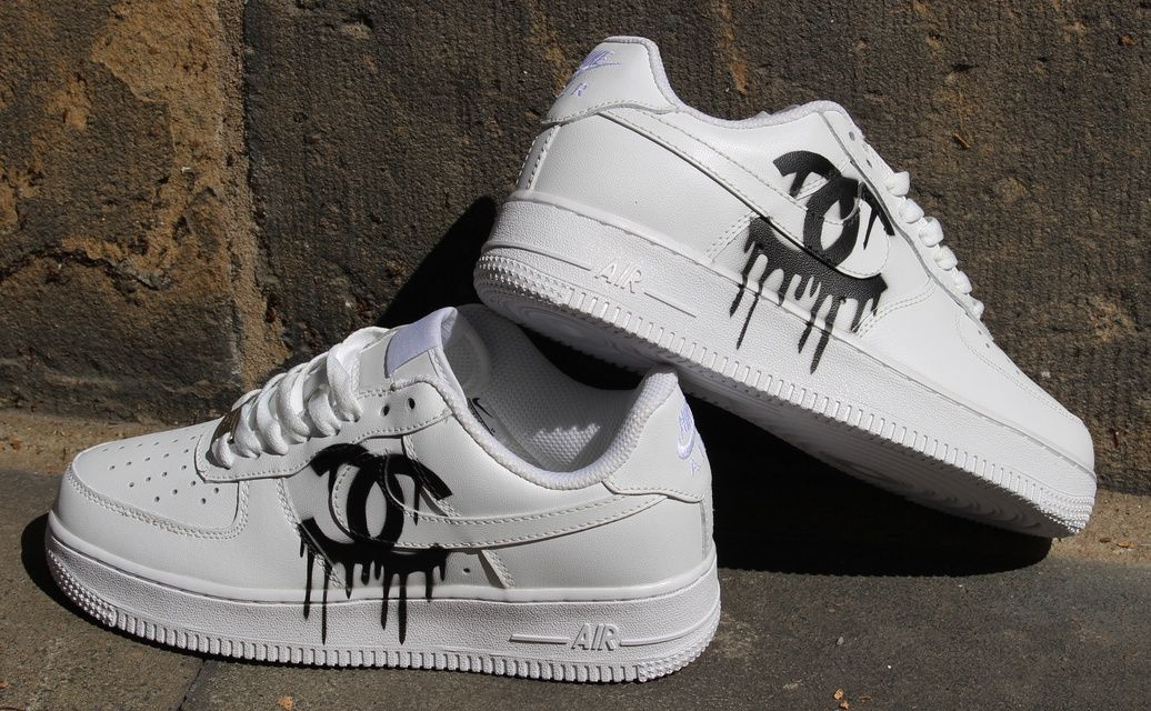 air force 1 white custom drip