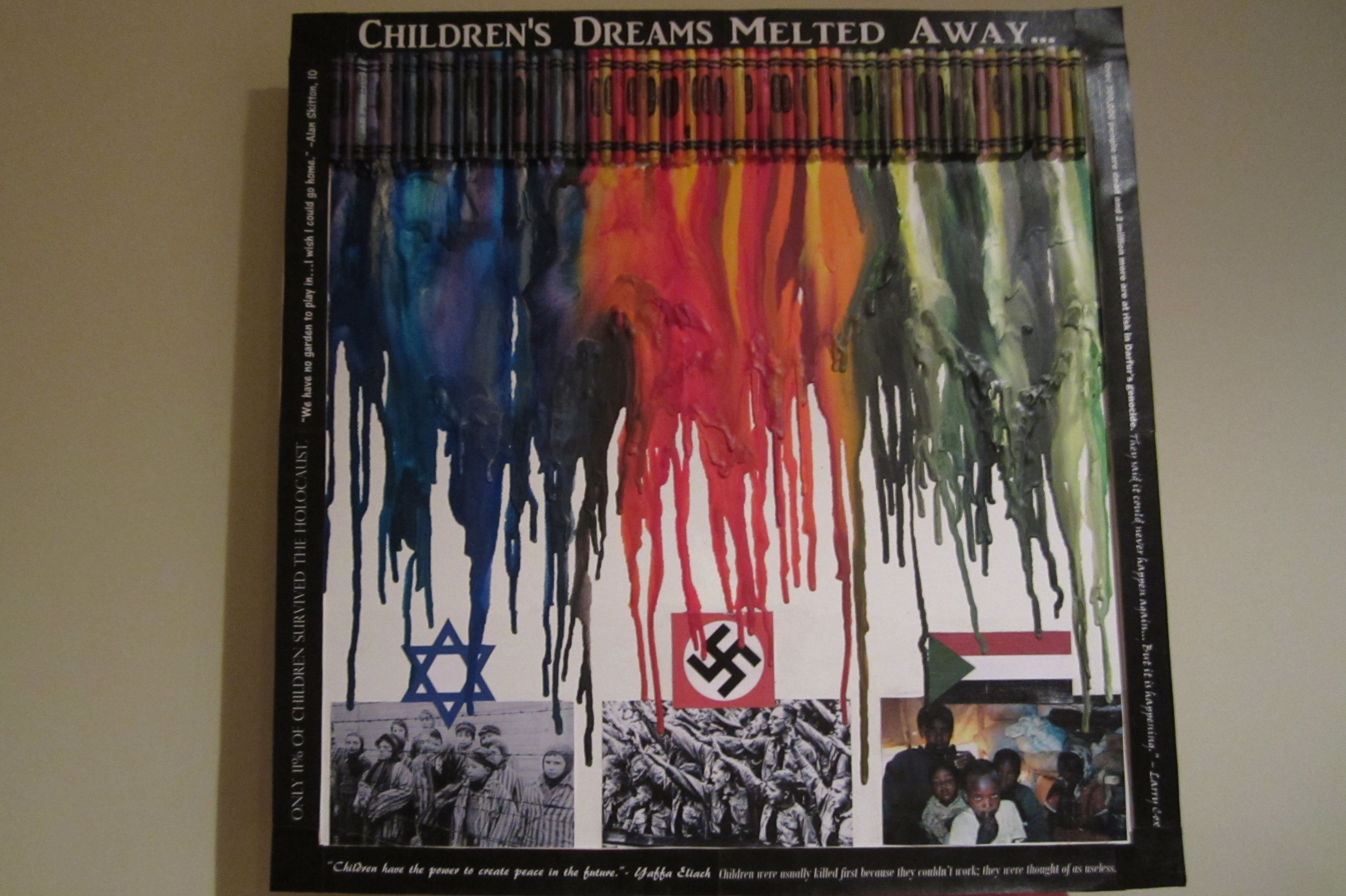 crayon art project for the holocaust. i like this idea | remembrance