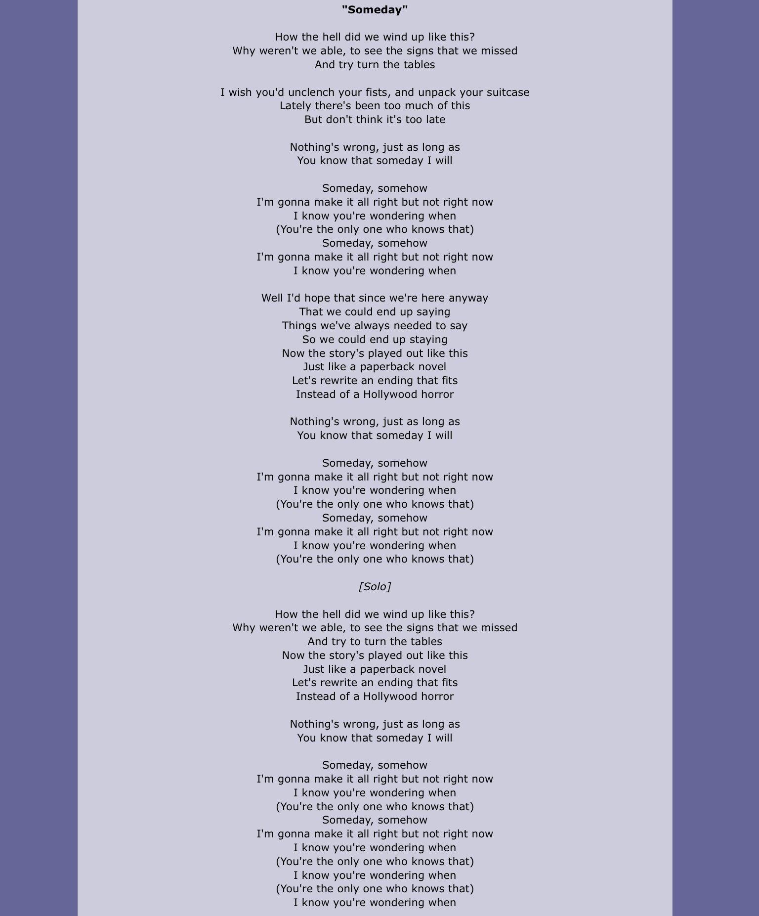 Unclench Your Fist Lyrics