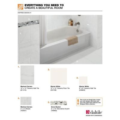 Decorative Accent Ceramic Wall Tile Enchanting Daltile Snow Illusion 258 Inx 12 Inceramic Decorative Accent Inspiration Design