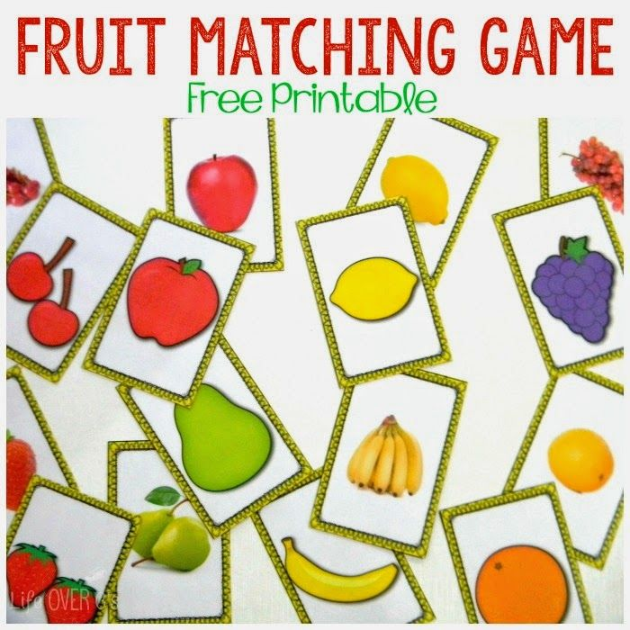 Free printable fruit matching game: You can match the pictures of ...