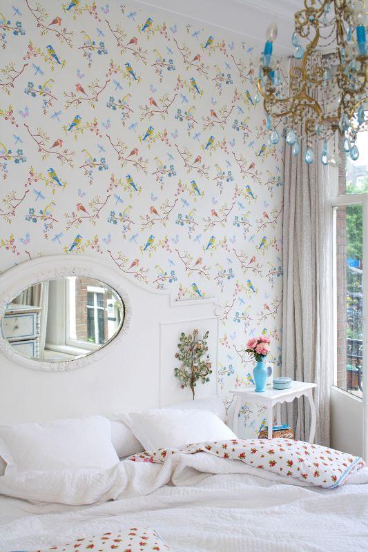 Romantisches Schlafzimmer Mit #Tapete Von Tapetenagentur Http://