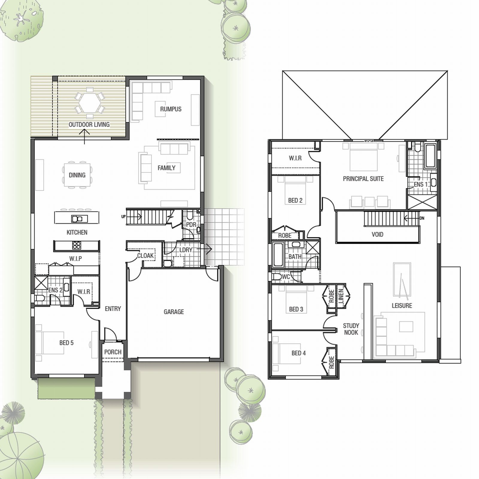 The Acacia Features An Open Plan Living Area, Modern Kitchen, Rumpus, Five Bedrooms, Multi