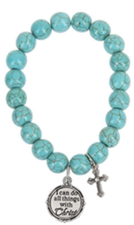 Ganz Turquoise Scripture Bracelet - Christian gift ideas