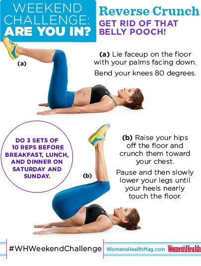 #WHWeekendChallenge Reverse Crunches! Do 3 sets of 10 reps before breakfast, lunch, and dinner this Saturday and Sunday. So...ARE YOU IN?