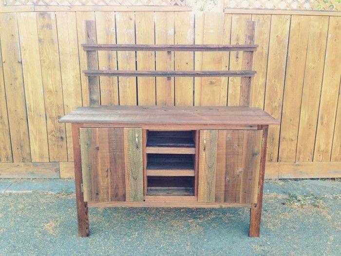 Bar Console From Reclaimed Wood Bay Area Custom Furniture Www Urbanminingcosf