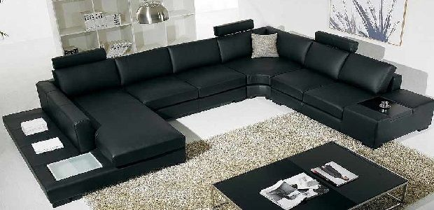 U Shaped Sofa Set Design Sofa Set Leather Living Room Furniture