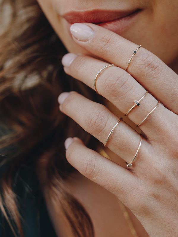 Photo of Ring stacks at Edge of Ember   – Gift Guide    #Edge #Ember #Gift #Guide #Ring #…
