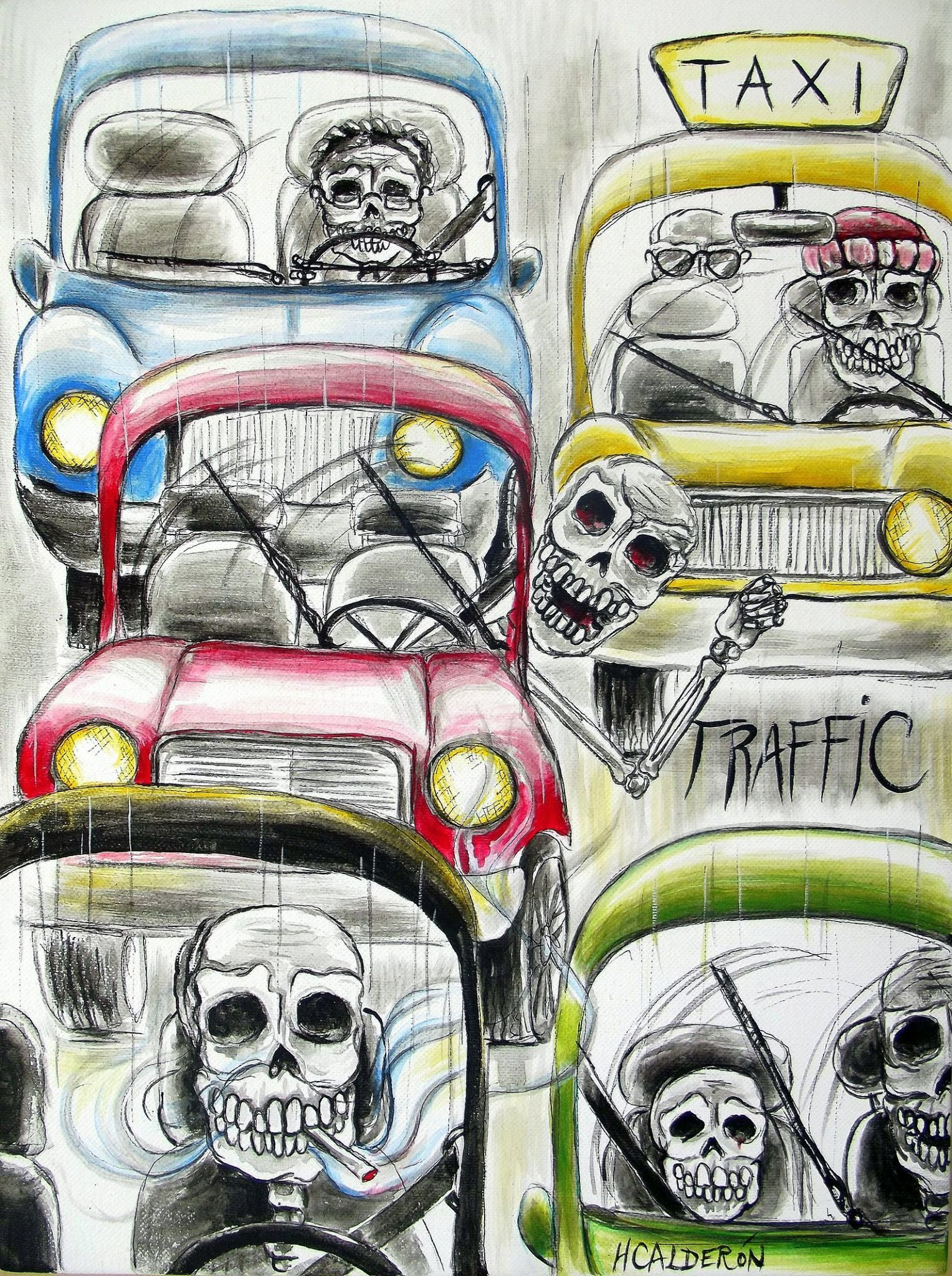 Skeleton Traffic Jam/ Going home for the holidays | Skullz* Silly ...