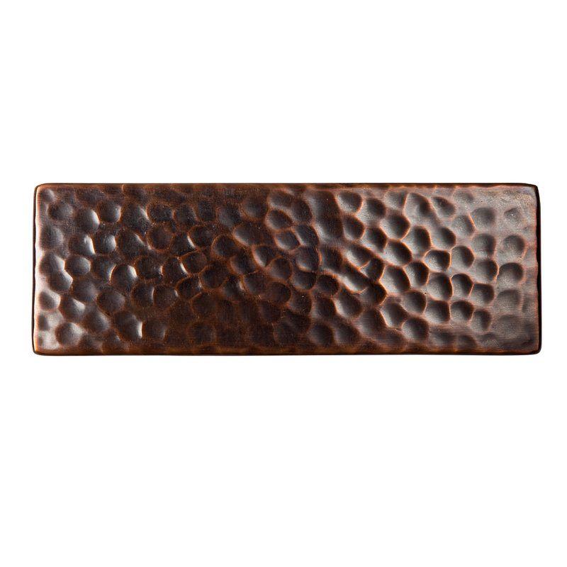 2 X 6 Metal Decorative Insert Tile Copper Tiles Accent Tile