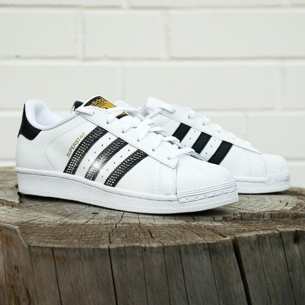 timeless design b6464 447f9 Sneaker * Adidas * Superstar * Glitzer * weiß schwarz ...
