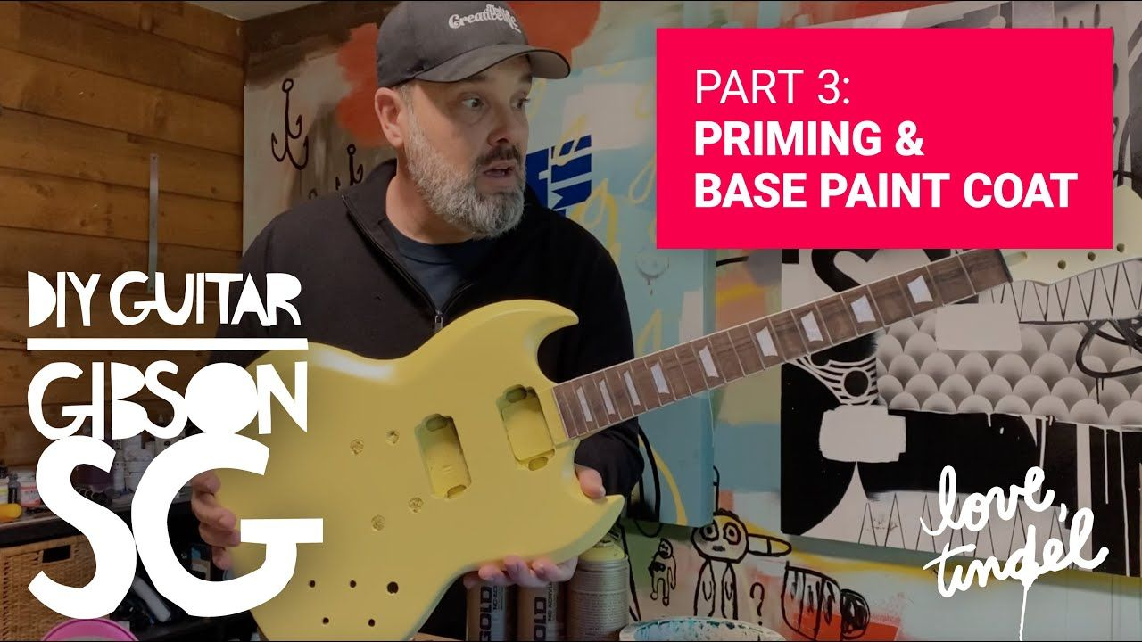 DIY Guitar Build PART 3: Priming the Body & First Coat of Paint /// STAY CREATIVE