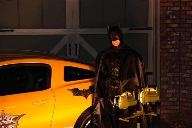 Batman guarding the boss