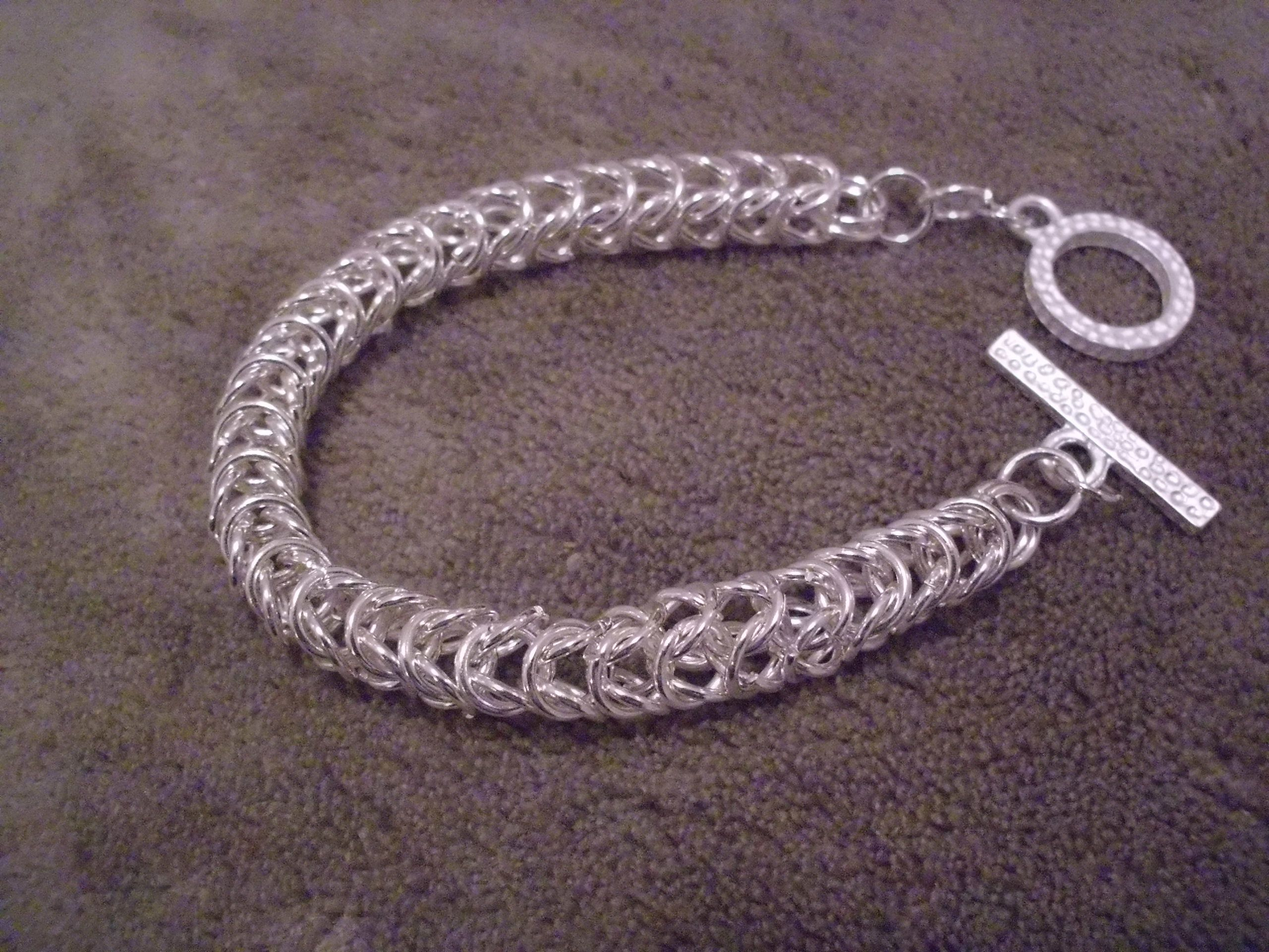 My First Chain Maille Bracelet Creation