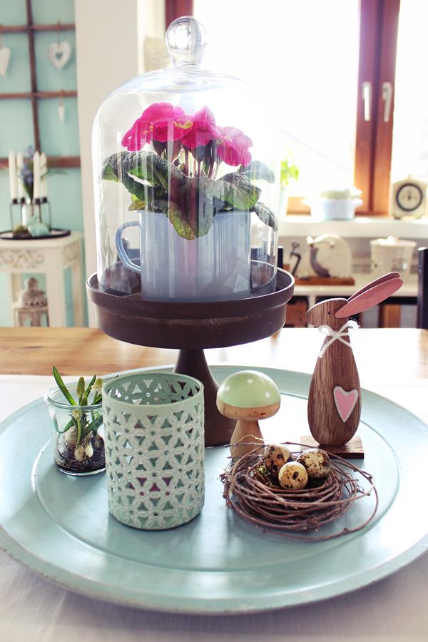 ein paar bilder der wohnküche mit etwas osterdeko inspiration, Hause deko