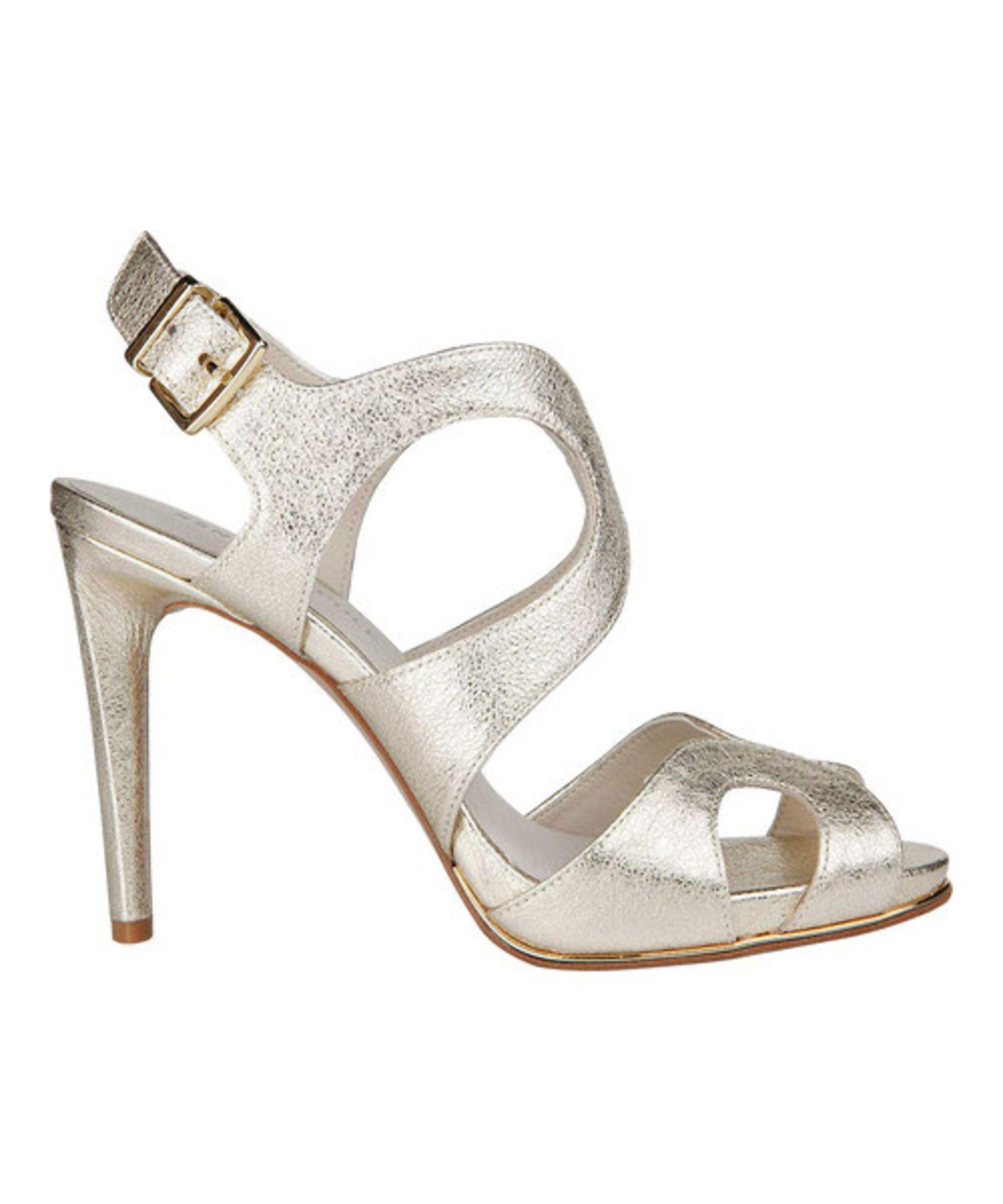 Kenneth Cole Women's Baldwin Leather Slingback High-Heel Sandals 0ETuqveBeG