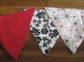 No-Sew Fabric Bunting # Marienkäfer – #DIYFabricFlowersHotGlue #DIYFabricFlowersSh …