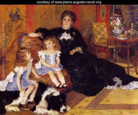 Madame Georges Charpentier and her Children, Georgette and Paul - Pierre Auguste Renoir - www.pierre-auguste-renoir.org