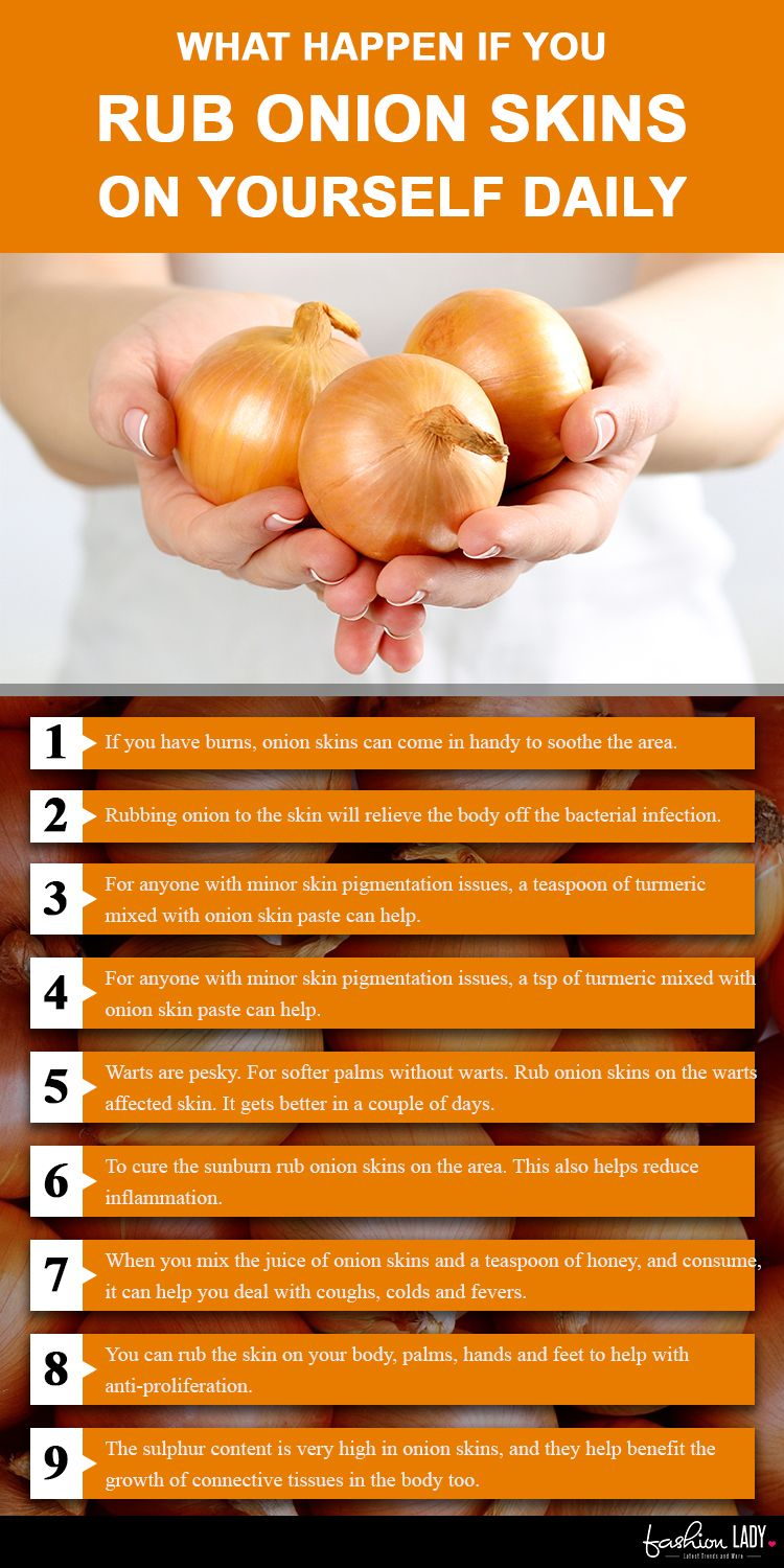 Why Rub Onion Skins On Yourself Daily? Here's The Scoop