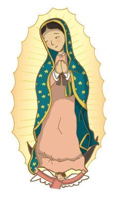 Dibujos Para Catequesis Virgencita De Guadalupe Caricatura Nuestra Senora De Guadalupe Virgen Maria Dibujo
