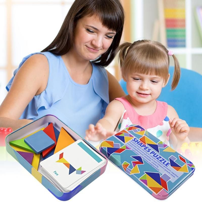 puzzle the card  learn to read tangram puzzle  shape