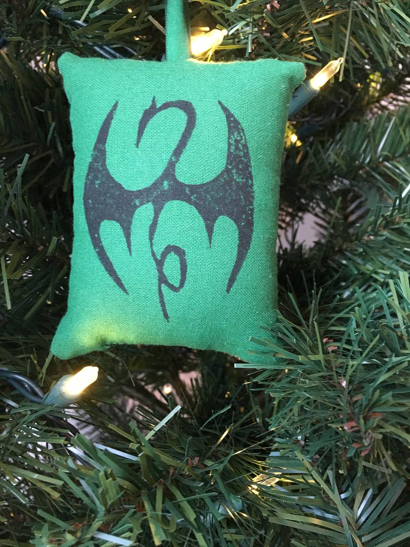 Lawyer christmas ornaments - Iron Fist Tattoo Logo Symbol Christmas Ornament Marvel Super Hero Defenders Danny Rand Kun Lun
