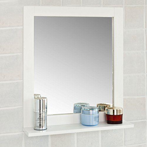 SoBuy® FRG129-W Spiegel Wandspiegel Badspiegel mit Ablage   - badezimmerspiegel mit led
