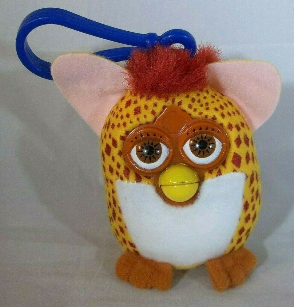 Mcdonalds Furby Plush Keychain Yellow Brown Spotted 2000 Mini Stuffed Animal 3 Ebay In 2020 Mcdonalds Furby Furby Yellow And Brown