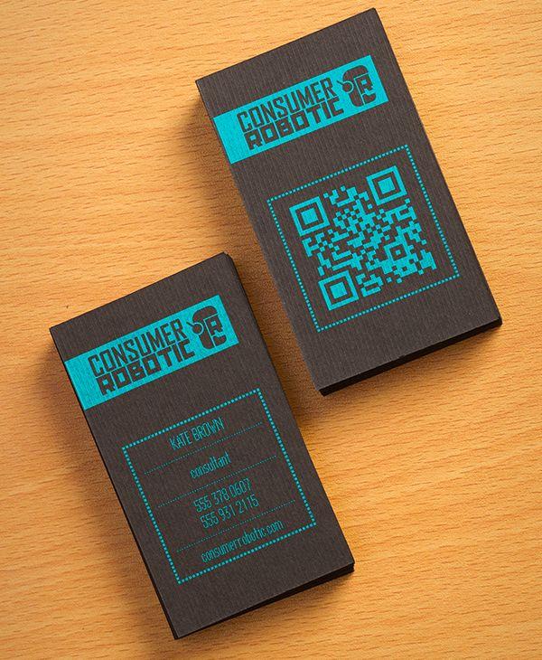 Consumer Robotic Business Card Design Pinterest Business Card