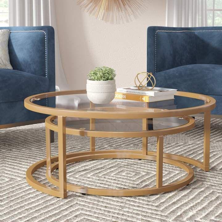 Best Everly Quinn Evie 2 Piece Coffee Table Set Casitas My 400 x 300