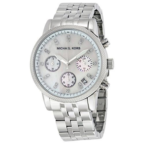 d276d30547a9 Michael Kors Watches Silver Chronograph with Stones Watch