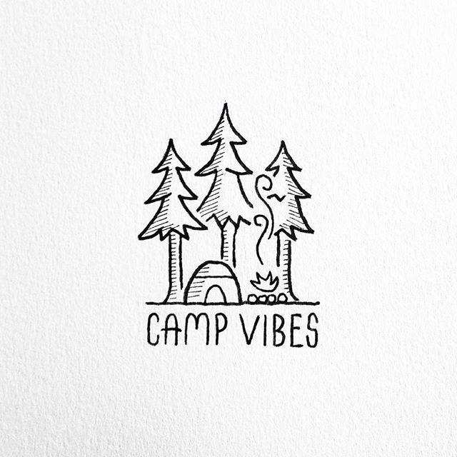 Camp Vibes Mini Drawings Cool Drawings Easy Drawings