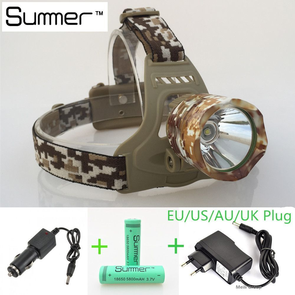 LED Headlamp Battery + Wall Charger + Car Charger
