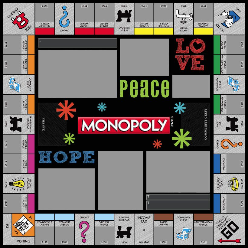 snowflakes black monopoly games custom personalized http