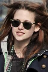 6b052d4f0 Twighlight star Kristen Stewart looking cool in her Ray Ban Clubmaster  sunglasses.