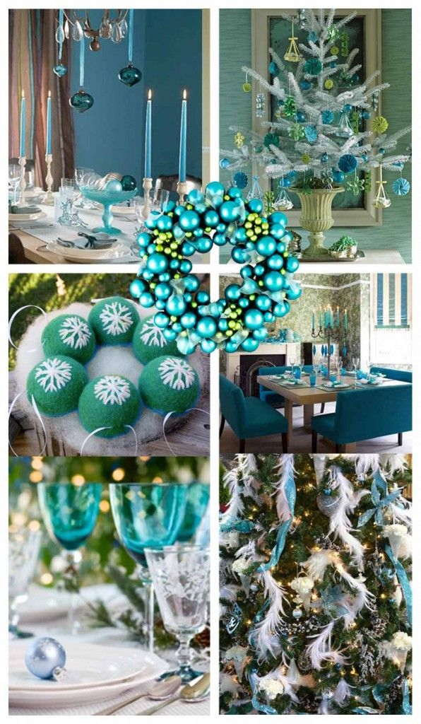 Teal  Turquoise Christmas Decor Cre8ive Christmas BLUE GREEN - blue and silver christmas decorationschristmas tree decorations