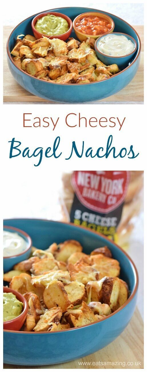 Turn homemade bagel chips into easy cheesy bagel nachos they make turn homemade bagel chips into easy cheesy bagel nachos they make the best party food forumfinder Image collections