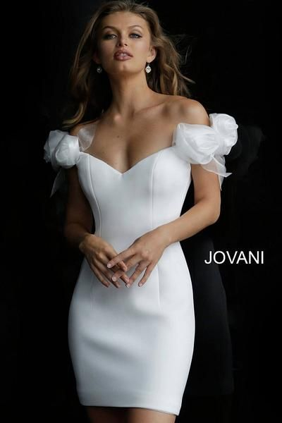 Jovani 63186 Short Bridal Dress Informal Wedding Dresses Coctail Dresses