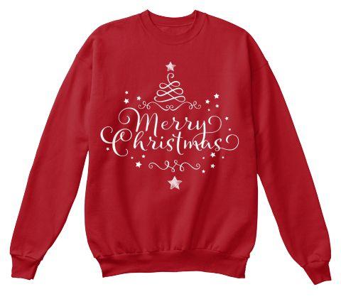 Merry Chrismtas Deep Red  T-Shirt Front