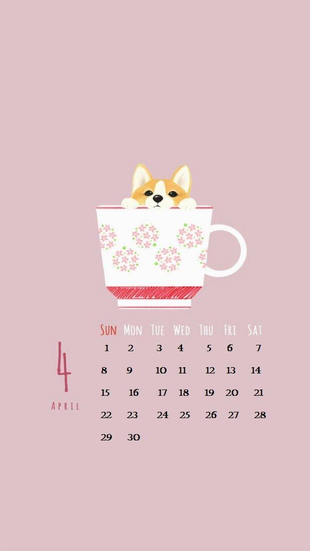 Cute Calendar Wallpaper : Cute april iphone calendar screensaver