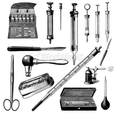 Doctor's Instruments and Tools | Vintage Medical Illustrations