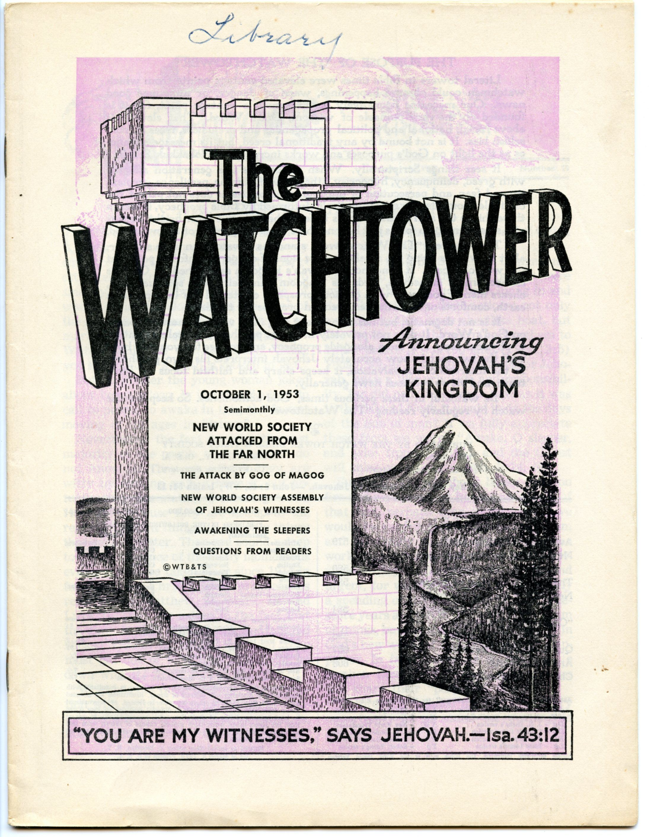 October 1963 Watchtower | JW! | Jehovah, Jehovah's witnesses