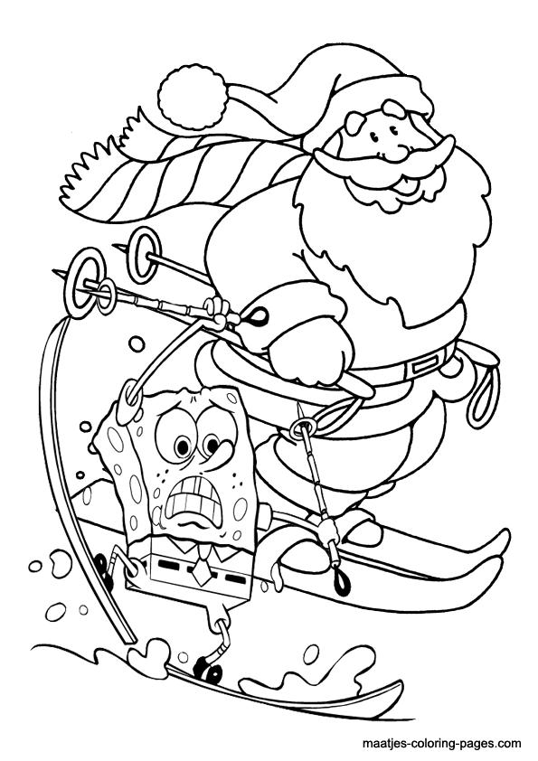Spongebob Christmas Coloring Pages Printable Christmas Coloring Pages Christmas Coloring Pages Spongebob Christmas