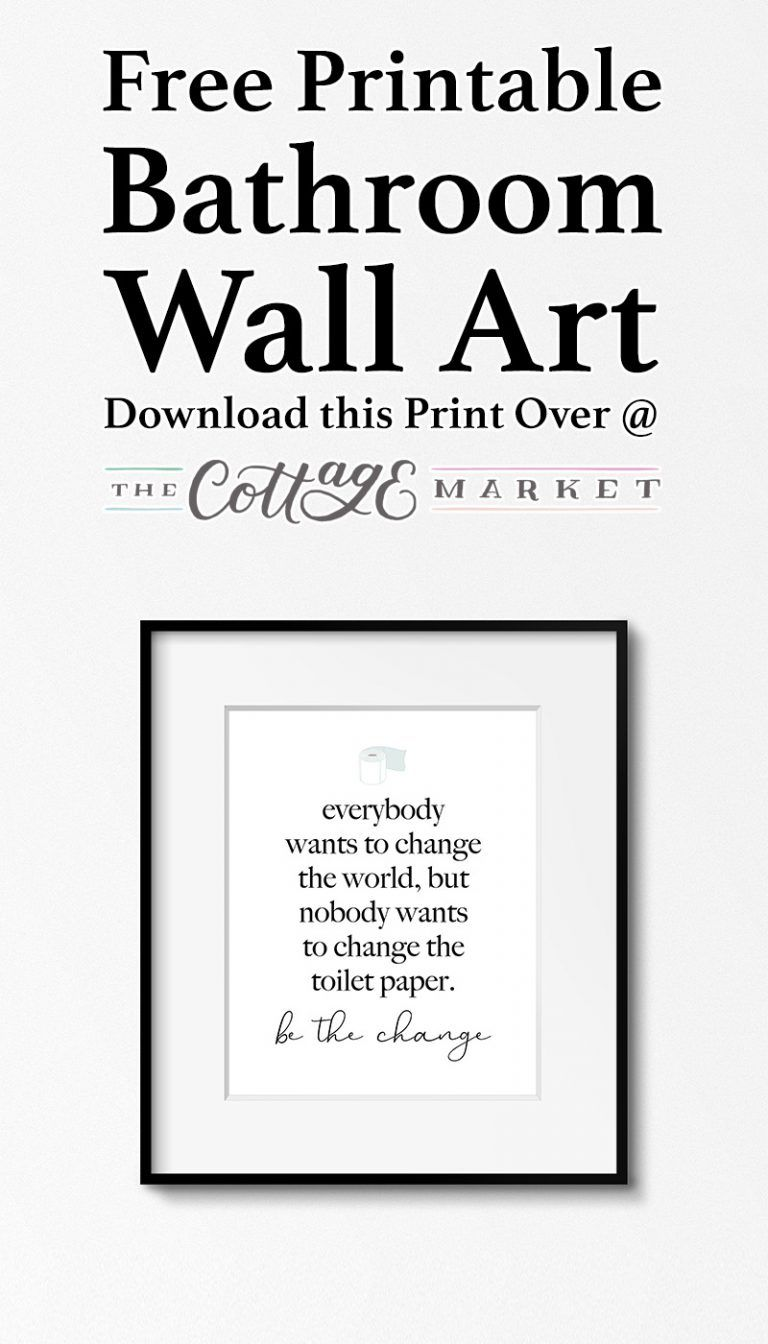 Photo of Free Printable Bathroom Wall Art – The Cottage Market
