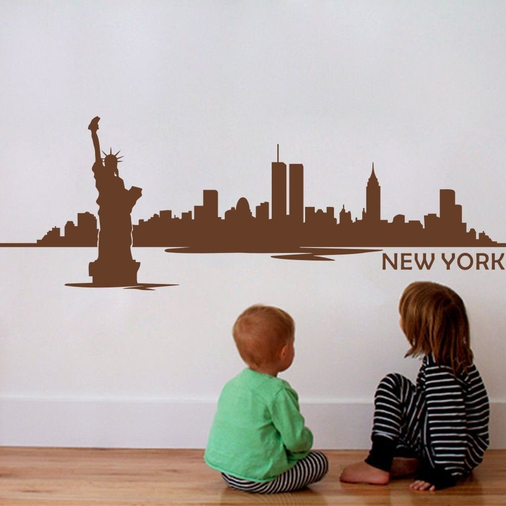 New York City The Statue Of Liberty  Kids Room Wall Stickers Vinyl Art Decal  Playroom Part 23