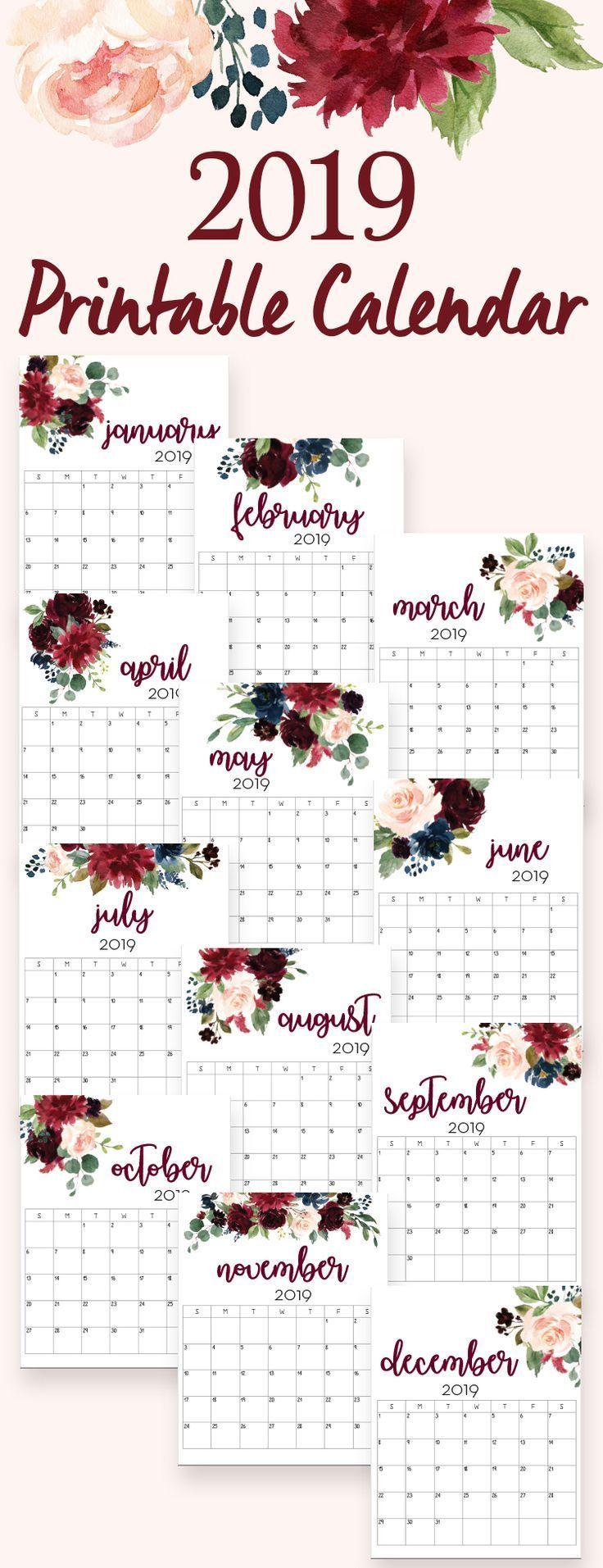 2019 calendar, 2019 calendars, 2019 printable calendars, printable calendar,  free printables, free downloadables, printable downloads, calendars 2019,  ...